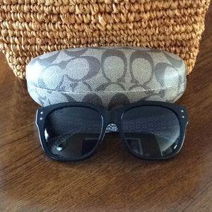 Coach Black Polarized Sienna Sunglasses
